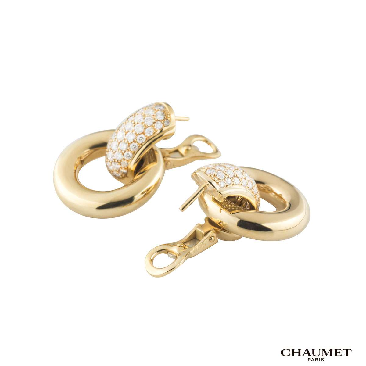 Chaumet Diamond Hoop Earrings